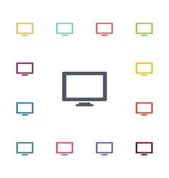 Tv flat icons set vector