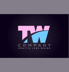 Tw alphabet letter join joined letter logo design vector