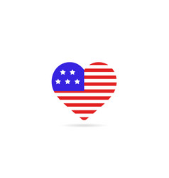 usa flag inside love vector image