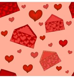 Valentine envelopes seamless pattern vector image