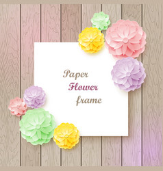 vintage background with paper flower frame vector image