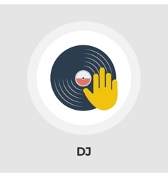 Vinyl disc flat icon vector image