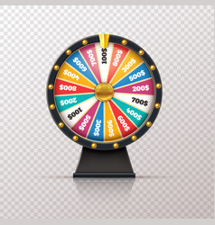 wheel fortune casino prize lucky game roulette vector image
