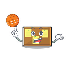 With basketball bulletin board with cartoon vector
