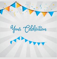 Your celebration template design vector
