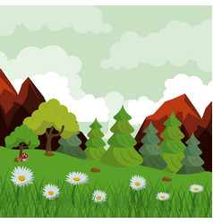 colorful background with landscape of rocky vector image