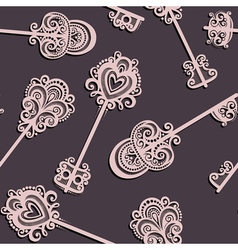 Seamless Pattern with Keys vector image