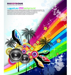 tropical music event disco flyer vector image vector image