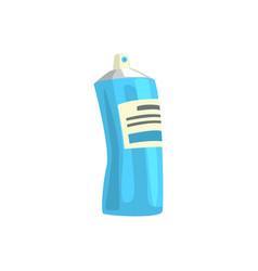 Aerosol paint blue spray bottle artistic vector