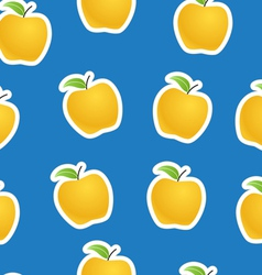 Apples seamless background vector image vector image