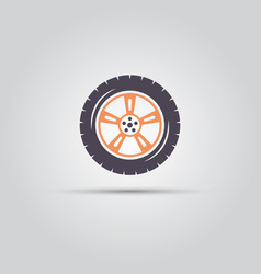 car wheel isolated flat symbol vector image
