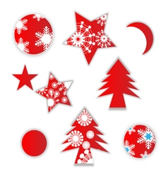 Christmas labels vector