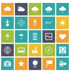 Flat design icons for user interface vector image