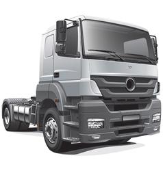 heavy tractor unit vector image vector image