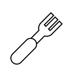 Isolated fork cutlery vector