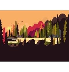 Landscape forest flat design vector image vector image