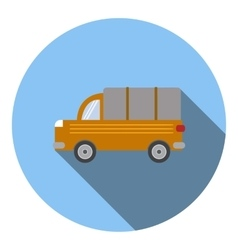 Truck car icon flat style vector image vector image