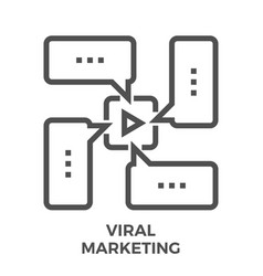 viral marketing line icon vector image vector image