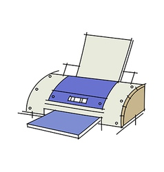 A printer vector image