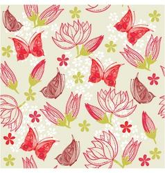 garden pattern vector image vector image