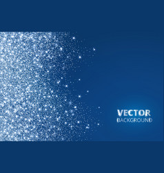 glitter confetti snow falling from the side vector image vector image