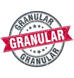 granular round grunge ribbon stamp vector image vector image