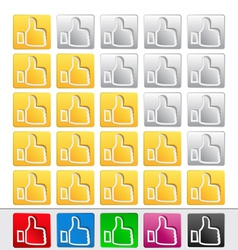 rate buttons vector image vector image