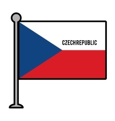 szech republic patriotic flag isolated icon vector image