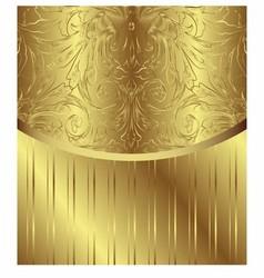 Vintage Pattern Golden Royal Design vector image vector image