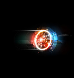 abstract futuristic background with clock concept vector image