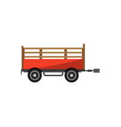 agricultural wheeled trailer isolated icon vector image vector image