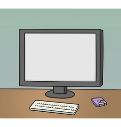 blank monitor background vector image