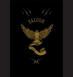 falcon logo vector image vector image