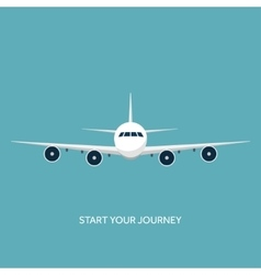 Plane airplane Flat vector image vector image