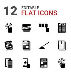 12 press icons vector