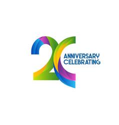 20 years anniversary celebrating template design vector
