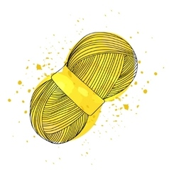 A ball of yellow yarn for vector