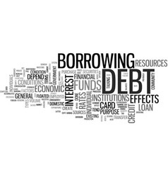 A guide to credit card debt text word cloud vector