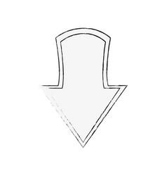 arrow down symbol vector image