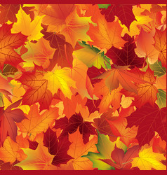 Autumn texture floral maple leaves fall seamless vector
