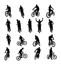 bicycle black set 03 vector image