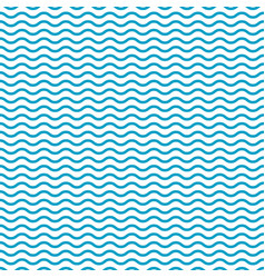 blue seamless wavy pattern wave line background vector image