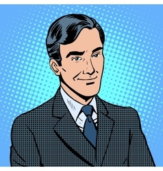 Businessman listens vector