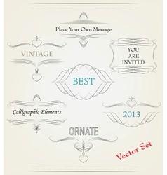 calligraphic elements vector image