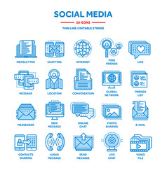 Communicationsocial media and online chatting vector