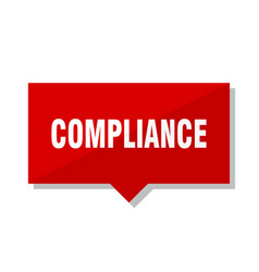 Compliance red tag vector