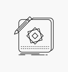 design app logo application design line icon vector image