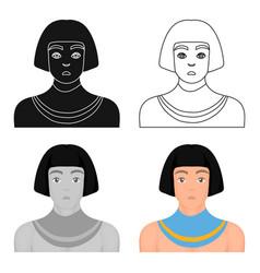 Egyptian man icon in cartoon style isolated on vector