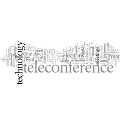 Elections and teleconference technology vector