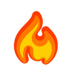 Fire flames red yellow art new icon vector